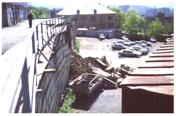Причина разрушения подпорных стен